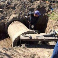Avances en la obra de desagües pluviales de Villalonga