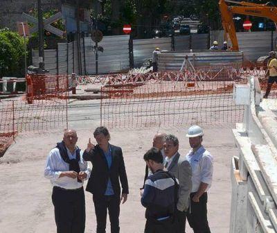 Posse y Torres recorrieron las obras del nuevo túnel de la calle España