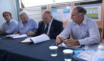 OSSE firmó convenio con ENOHSA para el financiamiento del Acueducto Oeste