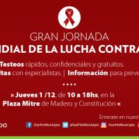 San Fernando lleva la campaña contra el SIDA a Plaza Mitre