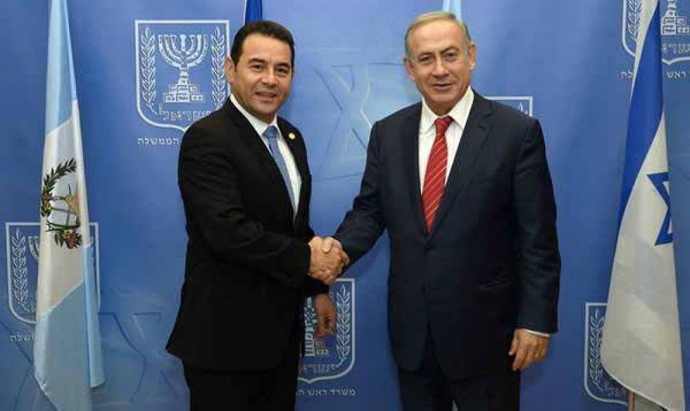 Netanyahu recibió al presidente de Guatemala