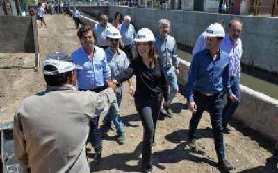 Vidal e Insaurralde recorrieron obras en Lomas de Zamora