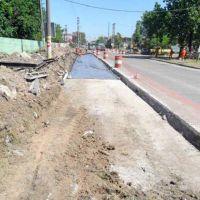 Siguen las obras en Camino Belgrano