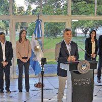 Das Neves participó del anuncio de Macri por el Compromiso Social contra las Adicciones