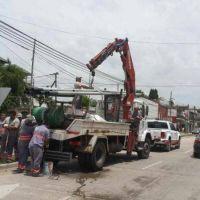 Avanzan las obras que brindan más iluminación y seguridad en accesos de Tigre