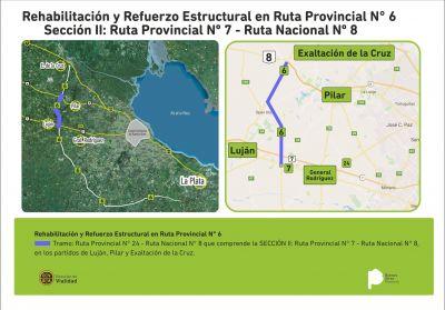 Autovía 6: licitan obras viales desde ruta 24 hasta ruta 8