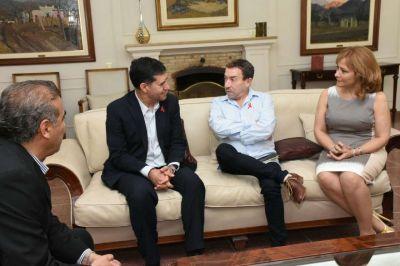 El Gobernador Casas recibió a Aníbal Pachano