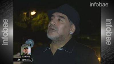 Maradona llegó a Cuba y volvió a criticar a Macri