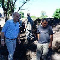 El Municipio de San Fernando entuba el zanjón de la calle Malvinas Argentinas