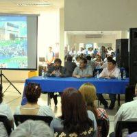 Costello acompañó la presentación de la Aplicación del Sindicato de Empleados de Comercio