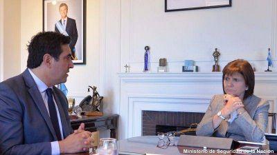 Martín Hernández se reunió con la Ministro de Seguridad de la Nación