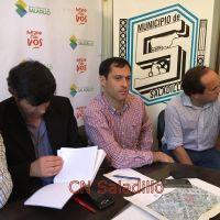 Salomón y funcionarios municipales hicieron anuncios sobre varias gestiones y obras