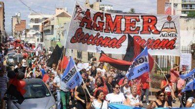 Agmer Paraná marchará el lunes a la Casa de Gobierno por los errores en los pagos de salarios