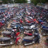 Playas de secuestro colapsadas: más de 3.400 motos y 880 autos