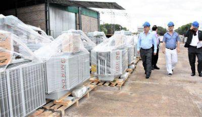 Llegaron 140 transformadores para que Secheep brinde mejor servicio eléctrico en el verano