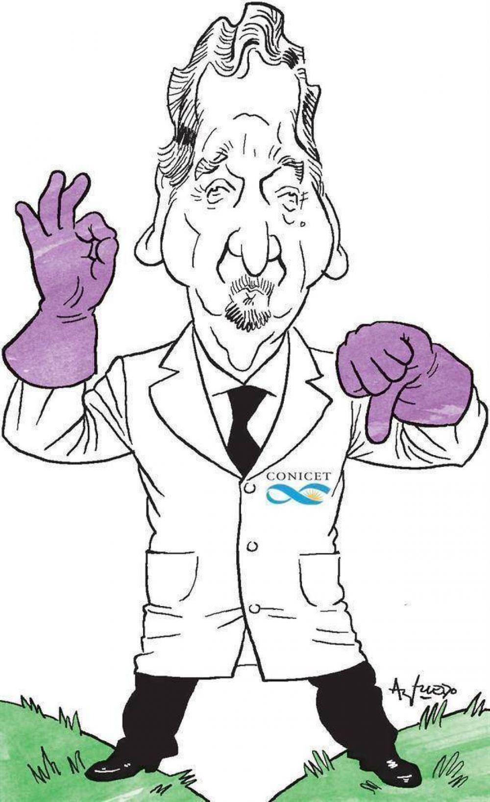 Lino Barañao buscó justificar la reducción del ingreso a la carrera científica en el Conicet