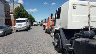 Camioneros: Cuatro horas de piquete y principio de solución