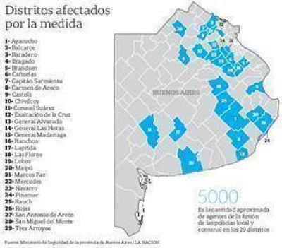 Unificarán las policías locales y las comunales en 29 distritos bonaerenses