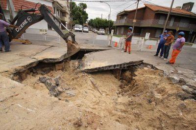 Comenzó la excavación en Urquiza y Mariano Comas