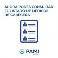 PAMI. Elegir a tu médico de cabecera es fácil