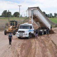 Se iniciaron las tareas para la futura pavimentación del acceso a De Bary