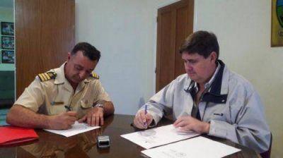 Gargaglione cedió inmueble a Prefectura Naval Argentina
