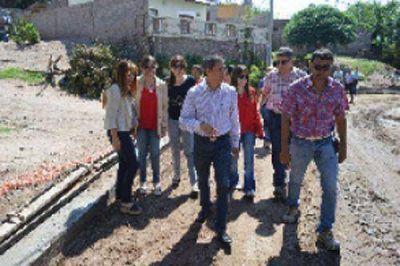 Municipio avanza con obras en barrio San Vicente y 10 de Junio