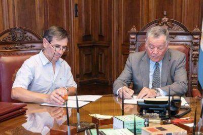 Harispe firmó convenio de comodato con el Presidente de la Suprema Corte de Justicia