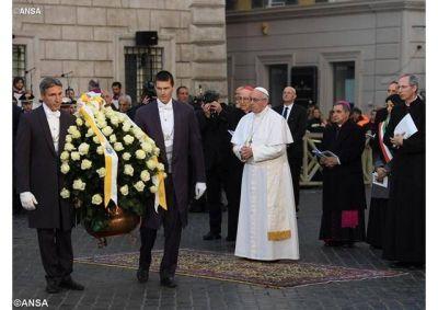 Homenaje a la Inmaculada en la Plaza de España