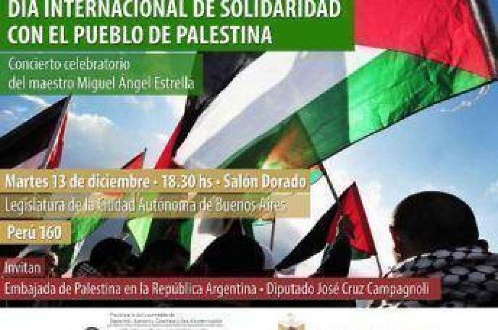 Conmemoración del Día Internacional de Solidaridad con el Pueblo Palestino en la Legislatura Porteña