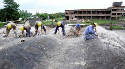 Avanzan las obras de construcción de la escuela de Gendarmería en Capitán Cáceres