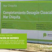 Iniciaron obras cloacales en Coronel Vidal con beneficios para unos 2.000 vecinos