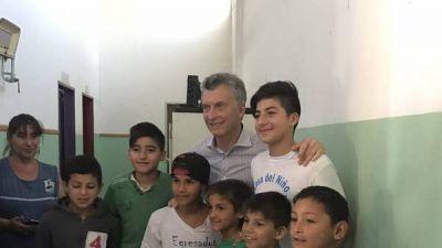 Mauricio Macri no habló del tema Ganancias y se excusó por estar