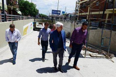 Andreotti supervisó los detalles finales del nuevo túnel de 202