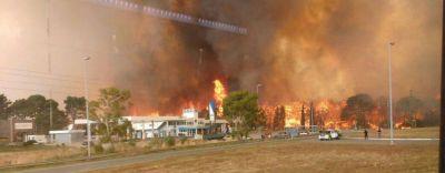 El impresionante video del fuego en Valeria del Mar