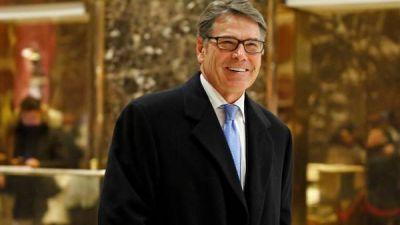Donald Trump nombra al ex gobernador de Texas, Rick Perry, como ministro de Energía