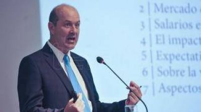La inflación del segundo semestre crece a un ritmo del 20% anual, afirmó Sturzenegger