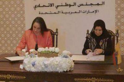 Ecuador y Emiratos Árabes firman convenio interparlamentario