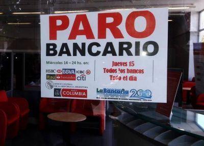 Trabajadores bancarios levantaron el paro general que se iba a realizar este jueves