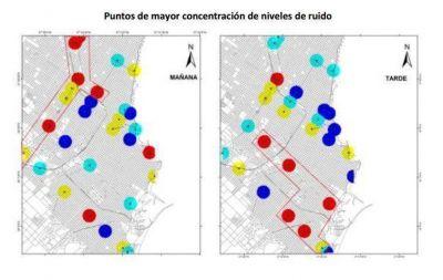 Mapa de ruido: contaminación sonora en Mar del Plata