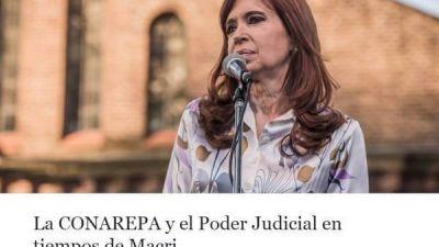 Cristina Kirchner y una carta muy dura contra el juez Bonadio