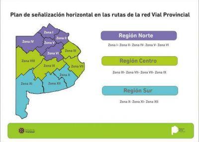 La Provincia lanza el Plan de Señalización Horizontal de Rutas Provinciales