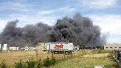 Ardió una reconocida empresa en el Parque Industrial