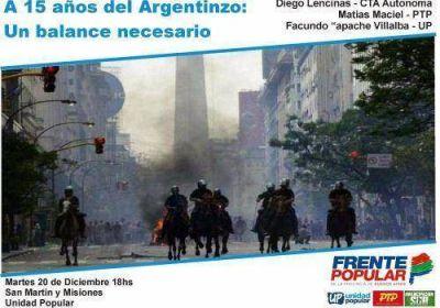 Argentinazo: Frente Popular hará actividades en Mar del Plata