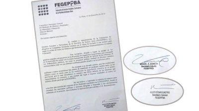 Unidad sindical: Soeme aceptó el pedido de volver a la Fegeppba