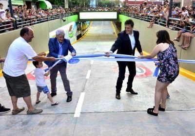Andreotti inauguró en San Fernando el 4to túnel construido con fondos municipales