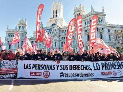 Marchas contra el ajuste de Rajoy