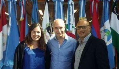 El intendente Reino firmó convenio de cooperación con Larreta