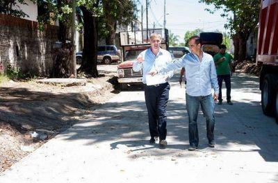 Tagliaferro supervisó los avances de las obras del Municipio