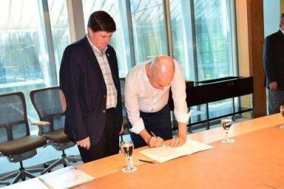 Gargaglione firmó un convenio de colaboración recíproca con la Ciudad Autónoma de Buenos Aires